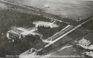 Originals Station, Cherry Tree Restaurant and the Station Masters house being built on the right   Hertfordshire Archives and Local Studies