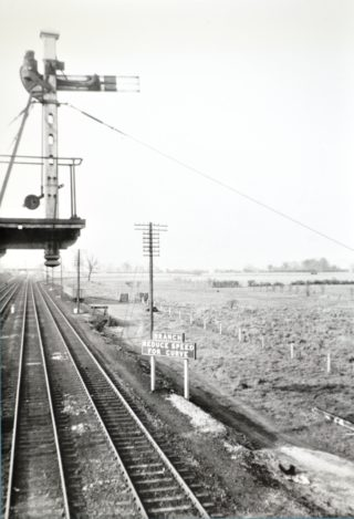 Main line looking north with the Hertford branch line shown | Hertfordshire Archives and Local Studies