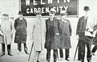 Picture taken on the station platform at the opening ceremony   Hertfordshire Archives and Local Studies