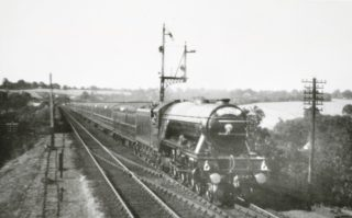 Flying Scotsman crossing the Viaduct | Hertfordshire Archives and Local Studies