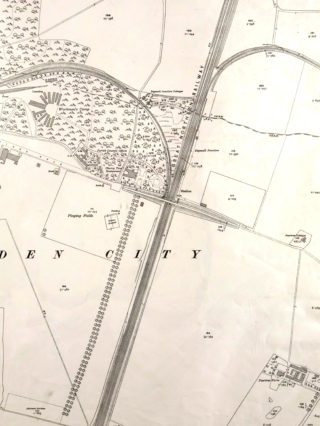 Ordnance Survey Map XXVIII.11 1923. The Hertford and the Luton & Dunstable branch lines can be seen   Hertfordshire Archives and Local Studies