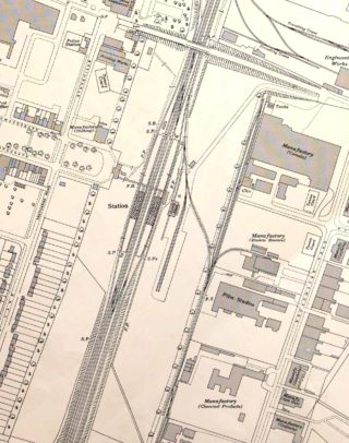 Ordnance Survey Map XXVIII.11 1938 showing the station in more detail | Hertfordshire Archives and Local Studies