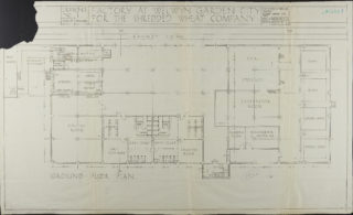 Ground Floor Plan dated March 1924 Hertfordshire Archives and Local Studies ref. UDC21/77/130