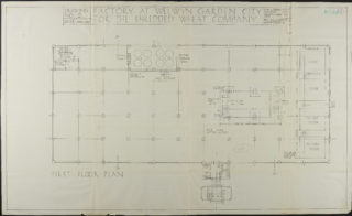 First Floor Plan dated March 1924 Hertfordshire Archives and Local Studies ref. UDC21/77/130