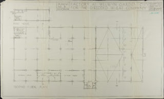 Second Floor and Pent House plan dated March 1924Hertfordshire Archives and Local Studies ref. UDC21/77/130