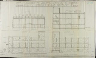 North and South Elevations dated March 1924 Hertfordshire Archives and Local Studies ref. UDC21/77/130