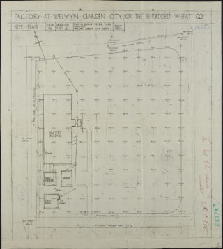 Site Plan dated March 1924 Hertfordshire Archives and Local Studies ref. UDC21/77/130