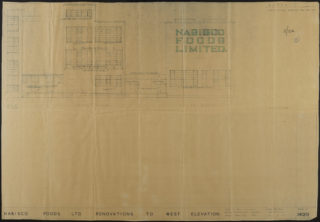 Nabisco Foods renovations, West elevation Mar 1961, Hertfordshire Archives and Local Studies, UDC21/77/130