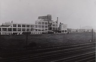Shredded Wheat 1929, the domed building was the film studio, taken from the railway side of the building