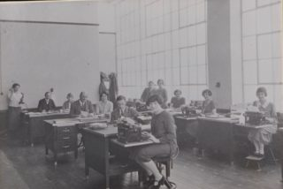 Shredded Wheat General Office Staff 1920s, Library photo collection, Hertfordshire Archives and Local Studies