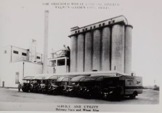 Shredded Wheat Silos 1920s, Library photo collection, Hertfordshire Archives and Local Studies