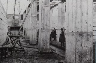 Shredder Wheat under construction 1925,  Library photo collection, Hertfordshire Archives and Local Studies