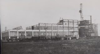 Shredded Wheat under construction 1925,  Library photo collection, Hertfordshire Archives and Local Studies