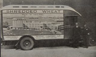 Shredded Wheat vehicle 1930, Library photo collection, Hertfordshire Archives and Local Studies