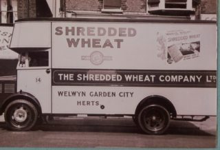 Shredded Wheat vehicle, Library photo collection, Hertfordshire Archives and Local Studies