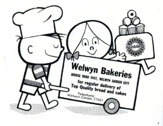 Bakery advertisement 1964 | Hertfordshire Archives and Local Studies, Town Guide 1964