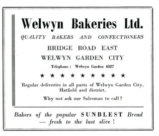 Bakery advertisement 1960 | Hertfordshire Archives and local Studies, Town Guide 1960