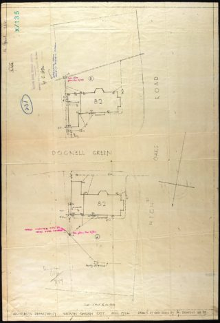 Road Plan for 21 and 25 High Oaks Road | Hertfordshire Archives and Local Studies UDC/21/77/133 16 April 1924