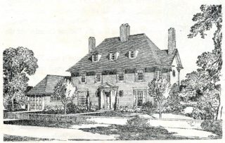 Artisit impression of the look of the house | Pamphlet file, Hertfordshire Archives and Local Studies