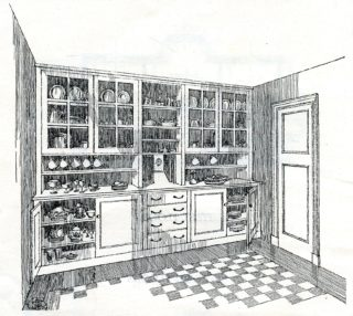 Artist impression, drawing of Kitchin | Pamphlet file, Hertfordshire Archives and Local Studies