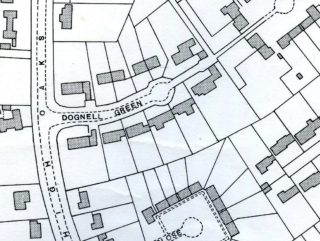Close up of the junction of High Oaks Road and Dognall Close, OS map XXVIII.11 1938 | Hertfordshire Archives and Local Studies