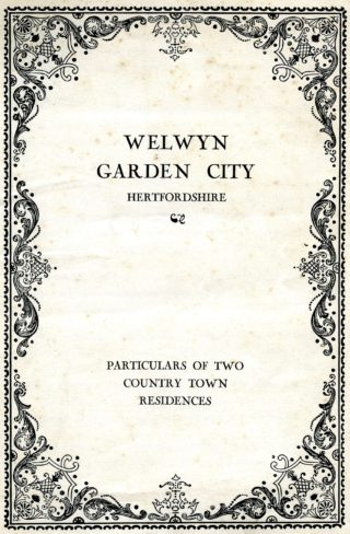Cover of the sales brochure | Pamphlet file, Hertfordshire Arxhives and Local Studies