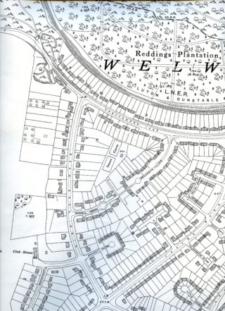 OS map XXVIII.11 showing High Oaks Road 1938 | Hertfordshire Archives and Local Studies