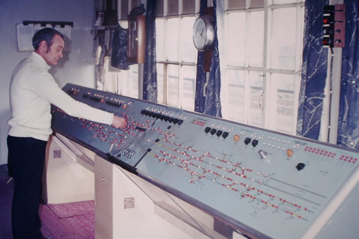 The new signalling control panel temporarily housed in the old SB. It is now located in the relay interlocking room and can be brought into emergency use if the data control link fails, to the signal box at Kings Cross