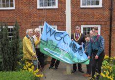 Raising the Welwyn Garden City Centenary Flag