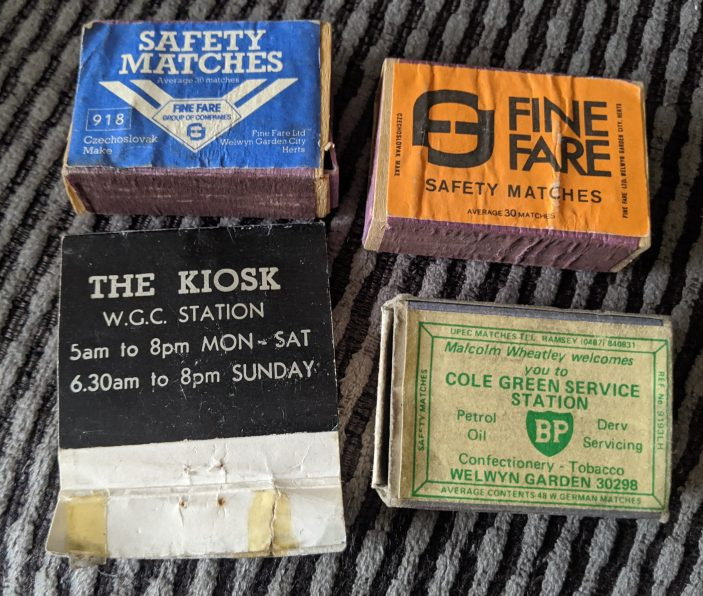 Welwyn Garden City matchboxes