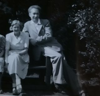 Rowena Merchant with Lionel Richards who she met at the library and married in 1942