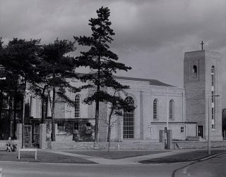 Photograph of Our Lady Catholic Church in 1963 | Ken Wright (Hertfordshire Archives & Local Studies ref CNT/WH/11/1/2/8/59)