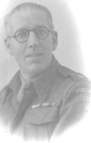 George Weaver in Home Guard uniform. Lived at 4 Guessens Court