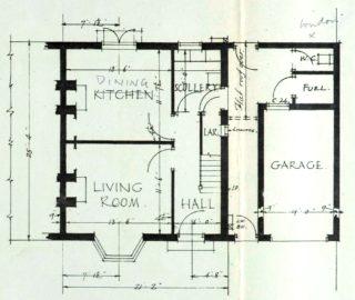 Ground floor plan for 14 Barleycroft Road (UDC21/77/159) | Hertfordshire Archives and Local Studies
