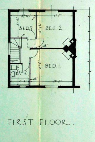 First floor plan of 16 Barleycroft Road (UDC21/77/159) | Hertfordshire Archives and Local Studies