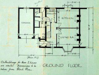 Ground floor plan of 16 Barleycroft Road (UDC21/77/159) | Hertfordshire Archives and Local Studies