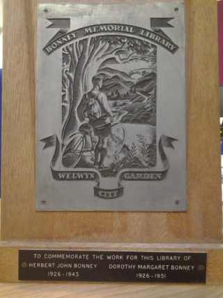 The Bonney Plaque | Welwyn Garden City Library Local Studies Collection