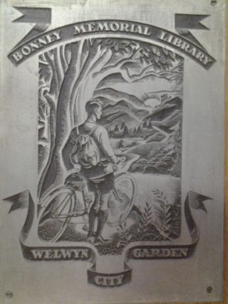 Detail of The Bonney Plaque | Welwyn Garden City Library Local Studies Collection