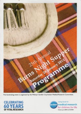 Programme cover for the 25th event   Robert Gill