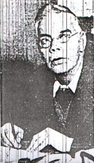 1934 Daily Express photo of George Edalji, when he was living in Welwyn Garden City