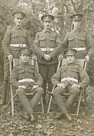 Private William Cooper, front right | Mill Green Museum