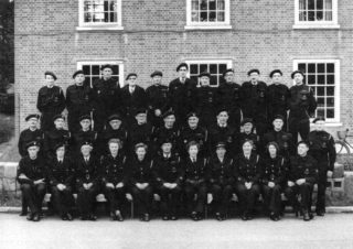 ARP wardens outside WGC Council Offices. Shirley's father is centre in second row.