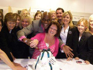 Staff at John Lewis Welwyn celebrate their 25th birthday with celebrity chef Ainsley Harriott   John Lewis Welwyn