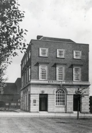 Barclays Bank in Howardsgate, c 1935. Now The Cork PH | Welwyn Garden City Library