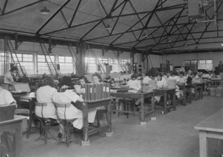 Beiersdorf factory interior showing staff at work | WGC Library Local Studies Collection