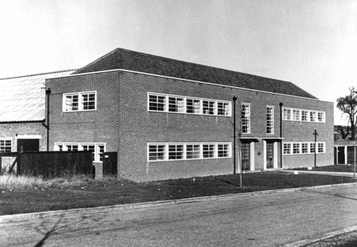 Beiersdorf factory, became Herts Pharmaceuticals in 1930s then part of the T.J.Smith & Nephew company
