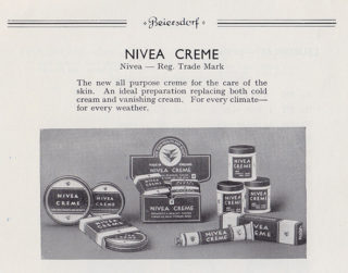Nivea Creme manufactured by Beiersdorf in WGC | WGC Library Local Studies Collection