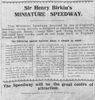 Features of the Miniature race track | The Tamworth herald 18 February 1933