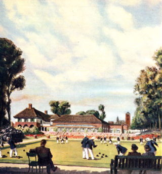 Bowling Green | Painted in 1948 by Bernard Venable