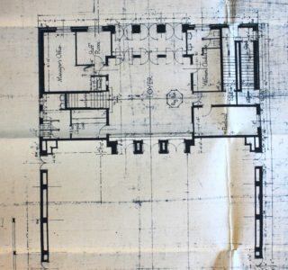 Foyer plans, Welwyn Theatre, May 1927, UDC21/77/251 | Hertfordshire Archives and Local Studies